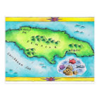Map of Jamaica Postcard