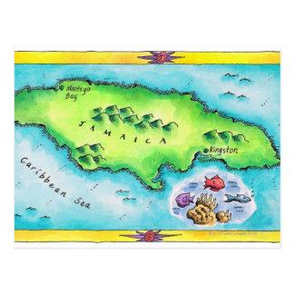 Map of Jamaica Postcard