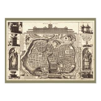 Map of Jerusalem (Ierusalem) circa 1770 Card