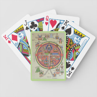 Map of Jerusalem playing cards