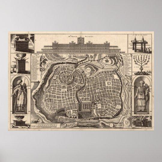 Map of Jerusalem Poster