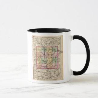 Map of Kalamazoo County, Michigan Mug