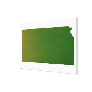 Map of Kansas 2 Stretched Canvas Print
