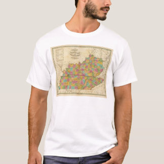 Map of Kentucky And Tennessee T-Shirt