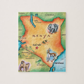 Map of Kenya Jigsaw Puzzle