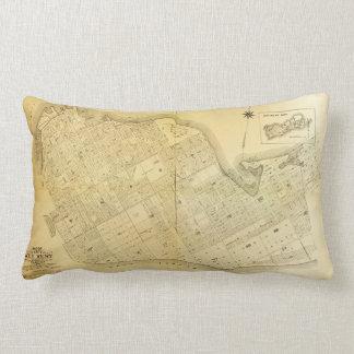 Map of Key West, Florida (1906) Lumbar Pillow