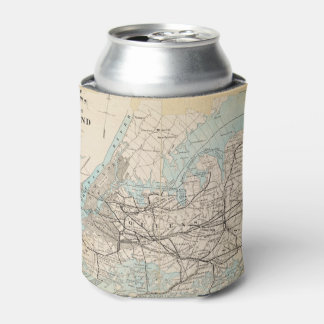 Map of Kings, Queens, Long Island Can Cooler