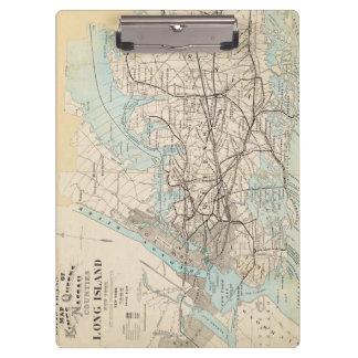 Map of Kings, Queens, Long Island Clipboard