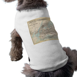 Map of Kings, Queens, Long Island Dog Tee