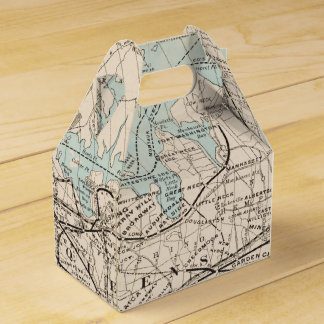 Map of Kings, Queens, Long Island Favor Box