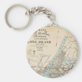 Map of Kings, Queens, Long Island Keychain