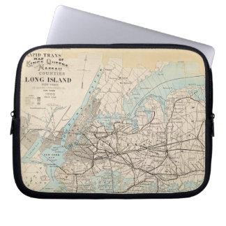 Map of Kings, Queens, Long Island Laptop Sleeve