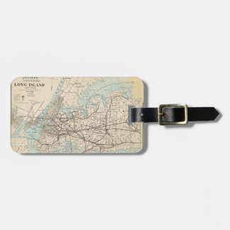 Map of Kings, Queens, Long Island Luggage Tag