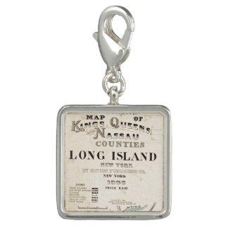 Map of Kings, Queens, Long Island Photo Charms