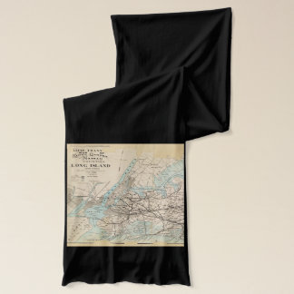 Map of Kings, Queens, Long Island Scarf