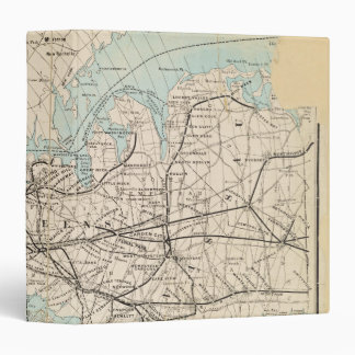 Map of Kings, Queens, Long Island Vinyl Binder