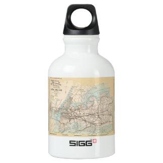 Map of Kings, Queens, Long Island Water Bottle