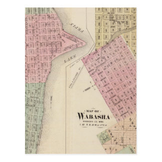 Map of Lake City, and Map of Wabasha, Minnesota Postcard