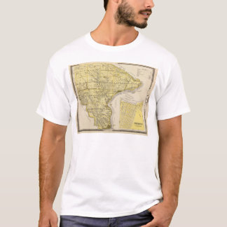 Map of Lee County and Montrose, State of Iowa T-Shirt