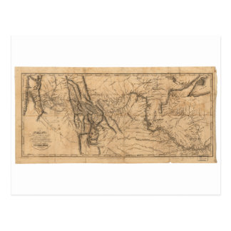 Map of Lewis & Clark's Across Western America 1814 Postcard
