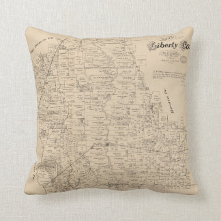 Map of Liberty County, Texas (1879) Throw Pillow