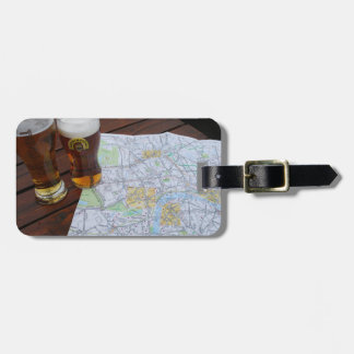 Map of London City Center Luggage Tag