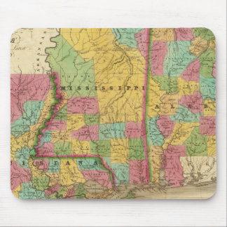 Map of Louisiana Mississippi And Alabama Mouse Pad