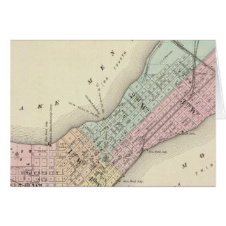 Map of Madison, Wisconsin Card