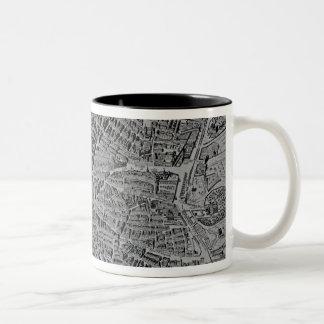 Map of Madrid Two-Tone Coffee Mug