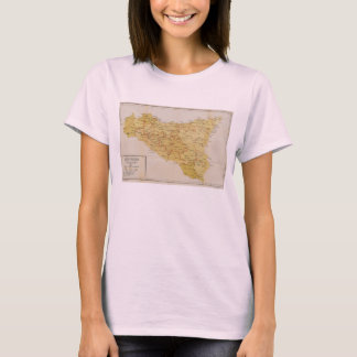 Map of Mafia Activity in Sicily Italy 1900 T-Shirt