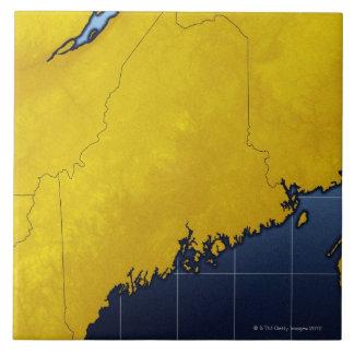 Map of Maine Ceramic Tiles