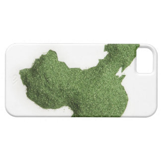 Map of Mainland China made of grass iPhone 5 Case