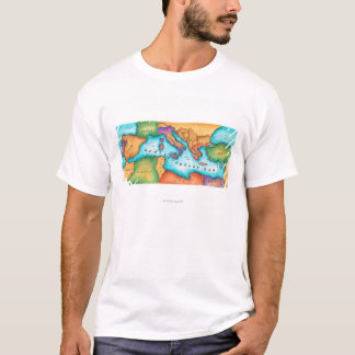 Map of Mediterranean Sea T-Shirt