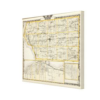 Map of Mercer County, Rock Island and Plano Canvas Print