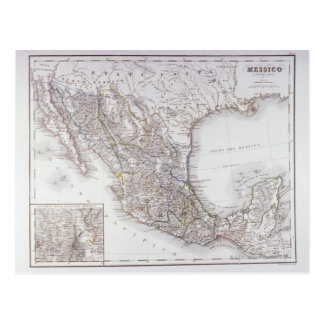 Map of Mexico 2 Postcard