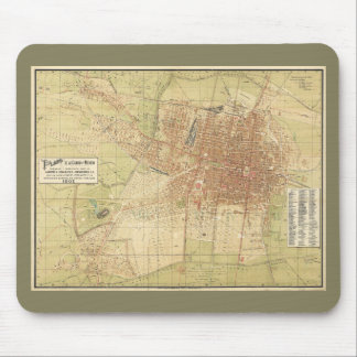 Map of Mexico City from 1907 Mouse Pad