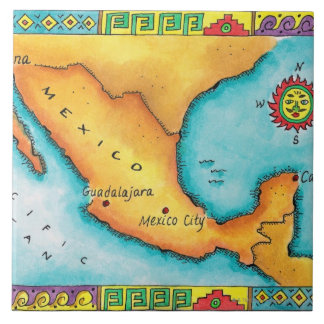 Map of Mexico Tile