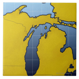 Map of Michigan 2 Tiles