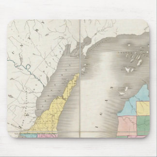 Map of Michigan & Part Of Wisconsin Territory Mouse Pad
