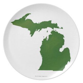 Map of Michigan Plate