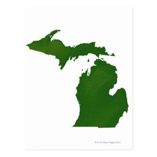 Map of Michigan Postcard