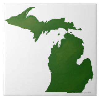 Map of Michigan Tiles