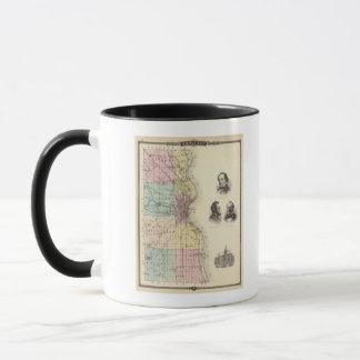 Map of Milwaukee County, State of Wisconsin Mug