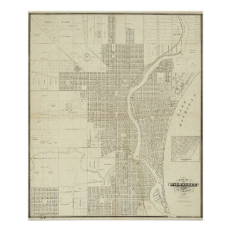 Map of Milwaukee Poster