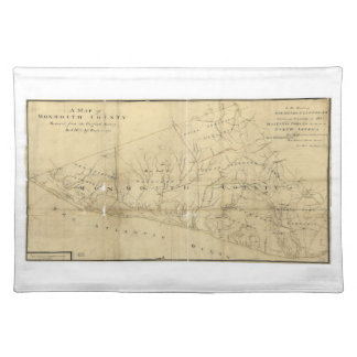 Map of Monmouth County New Jersey (1781) Place Mats