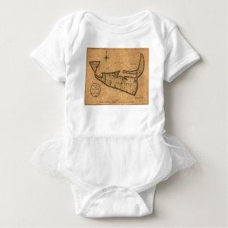Map of Nantucket 1782 Baby Bodysuit