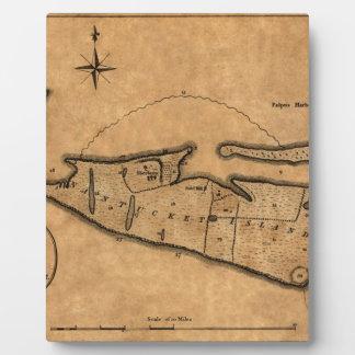 Map of Nantucket 1782 Plaque