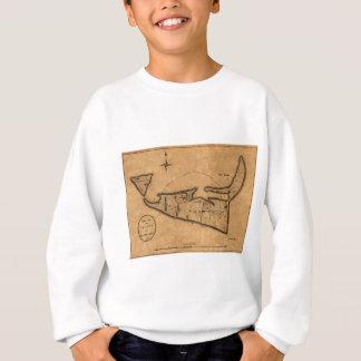 Map of Nantucket 1782 Sweatshirt