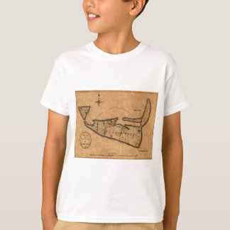 Map of Nantucket 1782 T-Shirt
