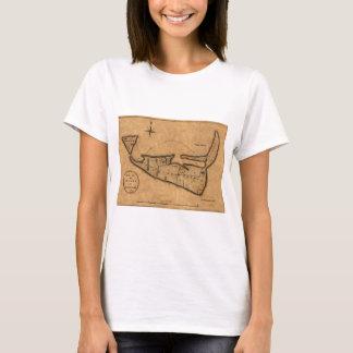 Map of Nantucket 1782 T-Shirt